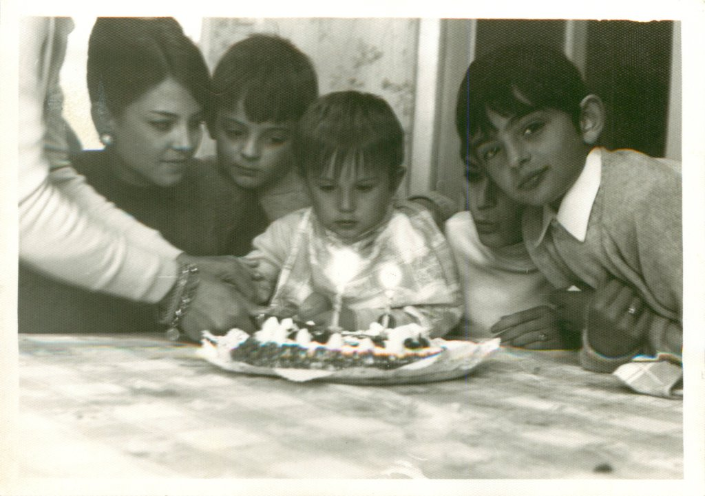 1968. Conchi, Xavi, Juan Carlos, Carmen y Pedro